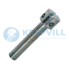DIN 404 Винты с радиальными отверстиями в цилиндрической головке, прямой шлиц