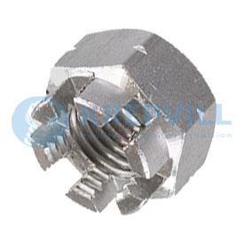 DIN 935 d Гайки шестигранные корончатые