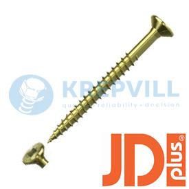 JDPLUS Саморез универсальный Потай T-Star, неполная резьба, фрезерующие ребра, специальная смазка