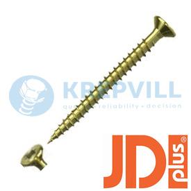 JDPLUS Саморез универсальный Потай T-Star,полная резьба, фрезерующие ребра, специальная смазка
